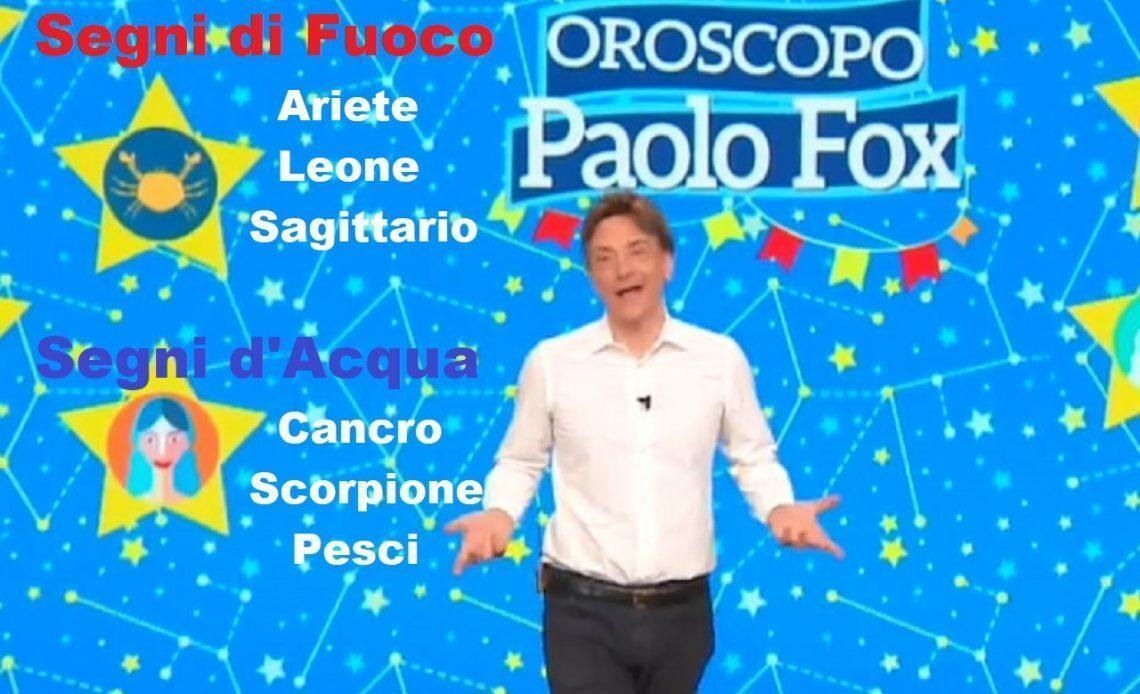Oroscopo Paolo Fox 27/03/2020:segni di fuoco e di acqua