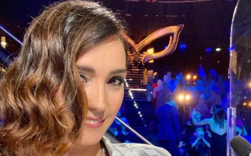 Selfie Caterina Balivo a Il Cantante Mascherato
